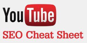 Youtube SEO Cheat Sheet