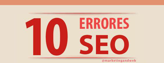10 Errores SEO Infographic